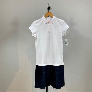 Nautica Girls Two Tone Uniform Dress